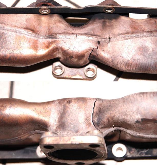 Треснувший выпускной коллектор — частая «болячка» у BMW X5